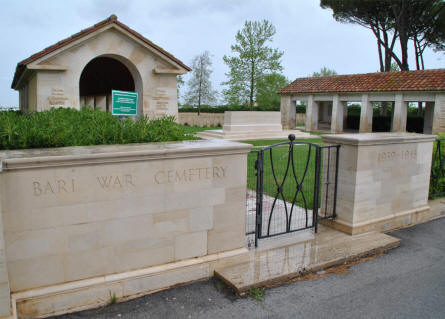 The entrance to the Bari War Cemetery.