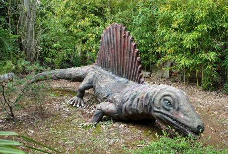 One of the smaller full-size dinosaurs displayed at the Dinosaur Park - Castellana Grotte.
