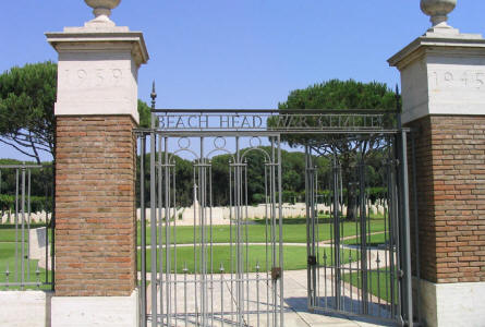 The entrance to Anzio Beach Head War Cemetery.