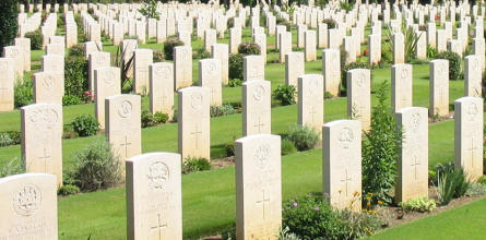 There are 2,022 war graves at Anzio Beach Head War Cemetery.