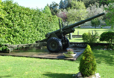 One of the Allied World War II canons displayed at the small museum next to the Italian War Cemetery in Mignano Monte Lungo - near Monte Cassino.