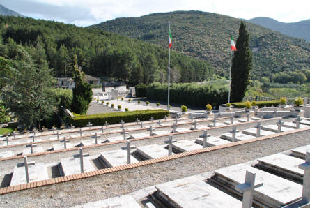 A view from the top of the Italian War Cemetery in Mignano Monte Lungo - near Monte Cassino.