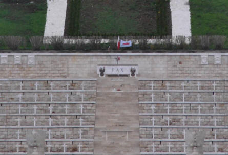 "Some of the more than 1,000 Polish World War II Graves at Polish War Cemetery at Monte Cassino. The graves mainly relate to the ""Battle of Monte Cassino""."