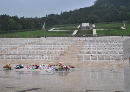 Some of the many Polish World War II Graves at Polish War Cemetery at Monte Cassino.