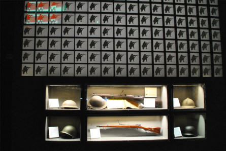 Some of the World War II weapons displayed at the Historical Museum of Cassino.