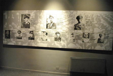 "Some of the major persons from the ""Battle of Monte Cassino"" displayed at the Historical Museum of Cassino."