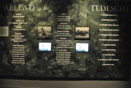 "A part of the interactive World War II ""Battle of Monte Cassino"" storytelling at the Historical Museum of Cassino."