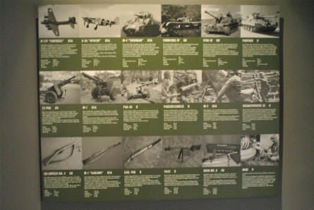 "A part of the World War II ""Battle of Monte Cassino"" exhibition at the Historical Museum of Cassino."