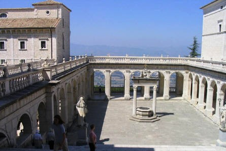 The view from the Monastery at Monte Cassino is magnificent.