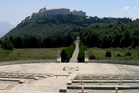 The Monastery at Monte Cassino seen from the Polish War Graves.