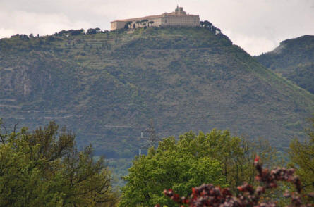 The Monastery at Monte Cassino seen from the distance.