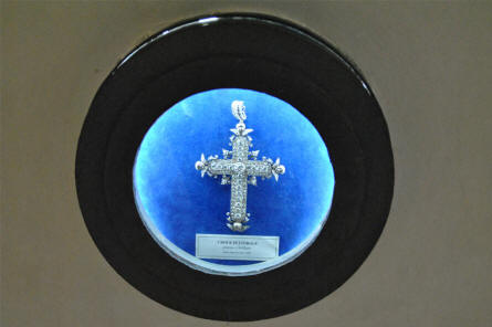 One of the many historical religious items displayed at museum of the Monastery at Monte Cassino.