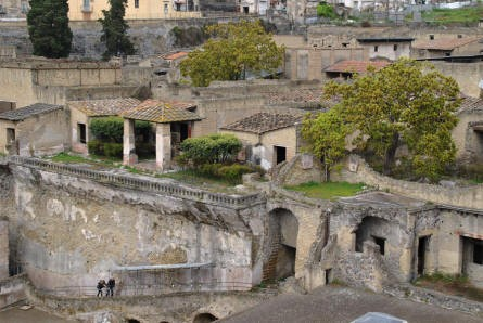 A look down at a small section of Herculaneum.