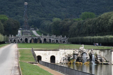 The part of the park at the Royal Palace of Caserta which is the furthest away from the palace itself.