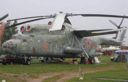 Mi-6 Hook heavy transport helicopter at the Riga Aviation Museum.