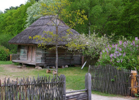 The granary at the Open Air museum of Lithuania in Rumšiškės - Kaunus.