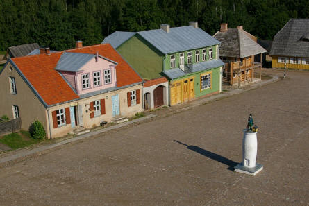 A small town at the Open Air museum of Lithuania in Rumšiškės - Kaunus.
