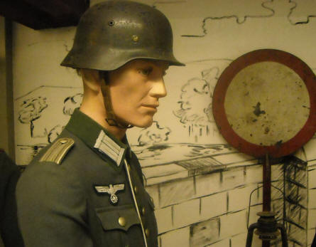 A German World War II soldier displayed at the General Patton Memorial museum in Ettelbruck.