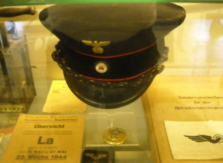 German World War II items displayed at the General Patton Memorial Museum in Ettelbruck.