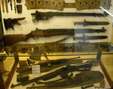 Some of the World War II weapons displayed at the General Patton Memorial museum in Ettelbruck.