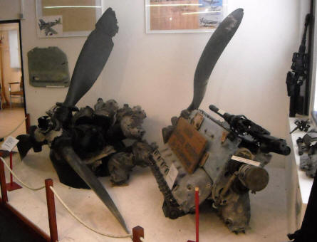 American World War II aircraft engines displayed at the General Patton Memorial museum in Ettelbruck.