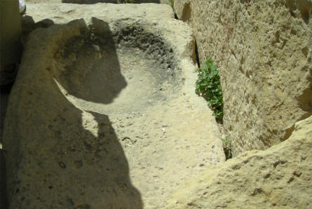 Details from the Ggantija Temples - a Neolithic, megalithic temple complex at island of Gozo.
