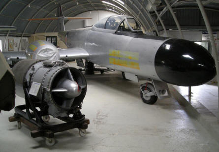 A Gloster Meteor at Malta Aviation Museum.