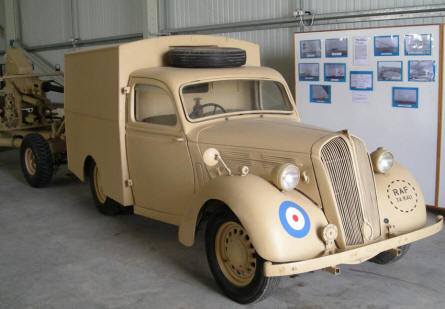 An old RAF vehicle at Malta Aviation Museum.