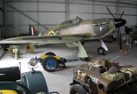 A Hawker Hurricane at Malta Aviation Museum. The aircraft is almost fully resorted from a wreck found in sea of the coast of Malta.