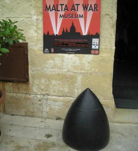The entrance to the Malta at War Museum.