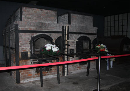 Two of the crematoria ovens at the Stutthof Concentration Camp.