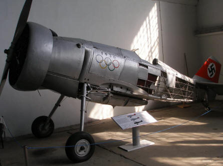 A vintage Curtiss Export Hawk II in a special 1936 Olympics paint  at the Polish Aviation Museum Cracow.