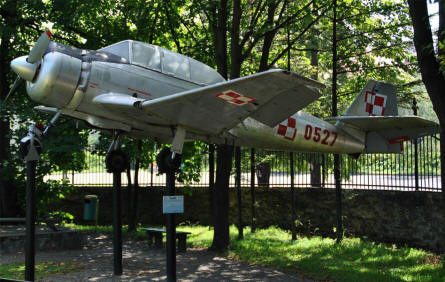 A 1960's PZL TS-8 Bies trainer displayed at the Historical Museum in Dukla Palace.