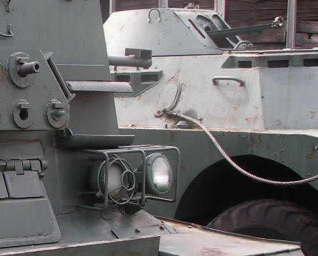 A classic armoured vehicle displayed at the Armoured Weapon Museum - Poznan.