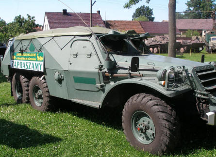 One of the many military vehicles displayed at the Lubuskie Military Museum.