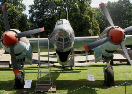 A Russian World War II bomber displayed at the Polish Army Museum in Warszawa.
