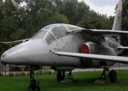 A PZL-Mielec I-22 Iryda M-96 modern jet trainer displayed at the Polish Army Museum in Warszawa.