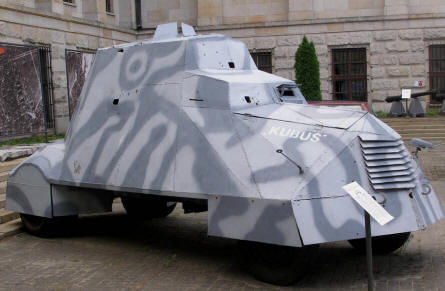 One of the very special armoured vehicle displayed at the Polish Army Museum in Warszawa.
