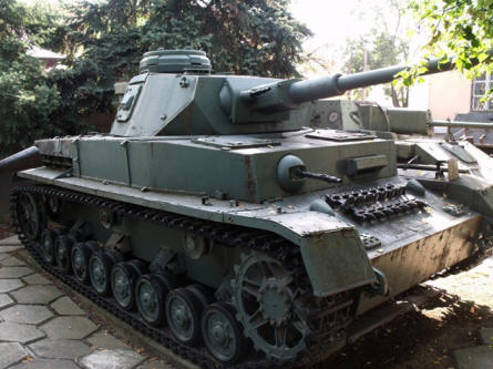 A German World War II tank displayed at the National Military Museum in Bucharest.