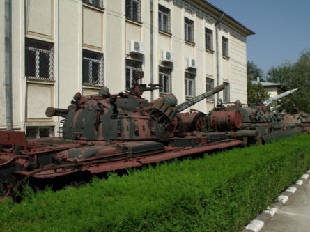 "Some ""Cold War"" Soviet built/designed tanks displayed at the National Military Museum in Bucharest."