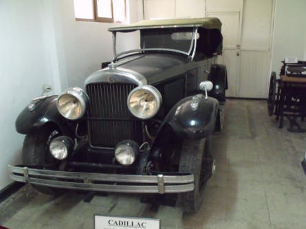A vintage Cadillac displayed at the Technical Museum Dimitrie Leonida in Bucharest.