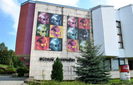 The Andy Warhol museum in Medzilaborce.