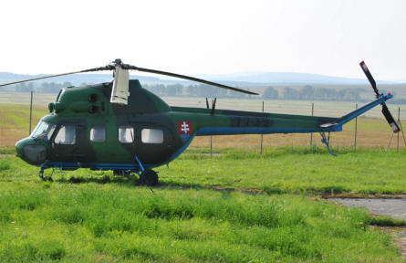 A Mil Mi-2 Hoplite in Slovakian markings displayed at the Museum of Aviation in Košice.