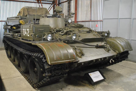 A Warsaw pact tracked military transport vehicle displayed at the Military Museum in Piešťany.