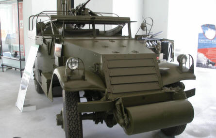 A World War II armoured vehicle at Park of Military History.