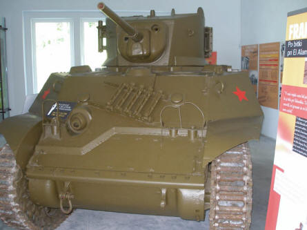 A World war II tank at Park of Military History.