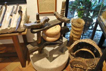 Some vintage tools displayed at the Ethnological Museum in Mijas.