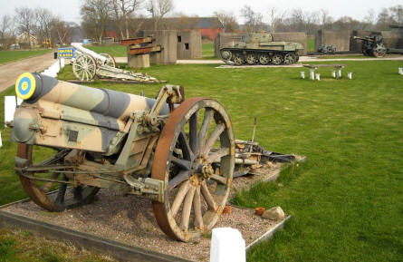 "One of the older canons displayed outside the Military Museum ""Beredskapsmuseet""."