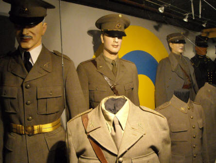"Some of the Swedish military uniforms displayed at the Military Museum ""Beredskapsmuseet""."