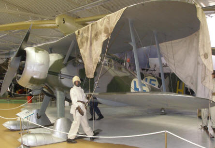Gloster Gladiator in Finish colours at the Swedish Air Force Museum.
